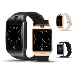 Wholesale Good Messaging Phones - 2017 Bluetooth Smart Watch Q18 Smartwatch Support facebook SIM Card GSM camera for Android ios phone Smart Phone Good Qaulity