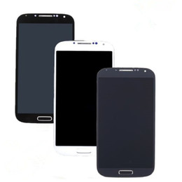 Wholesale Lcd S4 Black - high quality Factory Made LCD Display for samsung S4 Touch Screen For Samsung Galaxy S4 lcd Digitizer with frame White Black