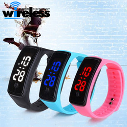 Wholesale Led Silicone Watch Band - Unisex Waterproof smart watch LED Silicone Smart Band Digital watch Sports Wrist Watch For Men Women
