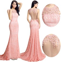Wholesale Cheap Light For Chrismas - 2017 New Real Photos Celebrity mermaid Evening Dresses holiday Long Fit and Lace Gowns for Special Occasion Wear Cheap Pink evening dresses