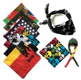 Wholesale Turban Magic Headband - Scarf Headband Skull Outdoor Sports Turban Sunscreen 55*55cm Magic Scarves Cycling Bandanas Hip Hop Scarf OOA2193