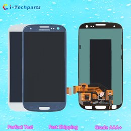 Wholesale Display Galaxy S3 Mini - New Original for Samsung Galaxy S3 Mini i8190 LCD Display Screen Replacement for Samsung Galaxy S3 I9300 Blue White