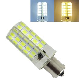 Wholesale 1156 Led Warm White - 1141 BA15S 1156 LED Dimmable 5W 540LM 110V 220V AC White   Warm 80-5730 SMD Silicone Daylight Light Chandelier Crystal Candlabra Bulb