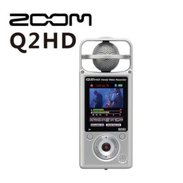 Wholesale Video Meetings - Wholesale-ZOOM Q2HD 1080P HD Camcorder Video Camera digital Recorder professional meeting recorder SLR micro audio sound recording