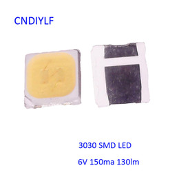 Wholesale Factory Outlet Fasts - Wholesale- Factory Outlet LED Chip 3030 6000K 150ma 130-140lm 6V for TV Backlight Fast Shipping via Regisitered Air Mail
