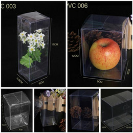 Wholesale Christmas Packaging For Toys - Free Ship 50pcs Cuboid Plastic Clear PVC Boxes Transparent Waterproof Gift Box PVC Carry Cases Packaging Box For jewelry Candy toys Cake