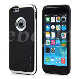 Wholesale Dual Layer - MOTOMO 3-in-1 Case Brushed Back Cover Hybrid Cases Dual-Layer Protector For iPhone 5 6 6s 7 Plus Samsung S6 S7 Edge Note 5
