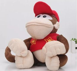 Wholesale Dolls Plush Monkey Toy - 22cm Super Mario Bros Plush Toys Cartoon stuffed Animals doll Monkeys and Donkey Kong For kids Best Christmas birthday gifts