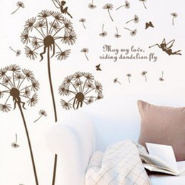 Wholesale Chinese 3d Posters - Wall Stickers Dandelion Wall Decoration Decals Home Decor Decorative 3D Poster for Kids Rooms Adhesive To Removable with Decals