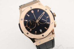Wholesale Fusion Brands - AAA supplier Luxury Brand watch men classic fusion chronograph quartz sports leathr blets rose gold Watch Mens dive Watches