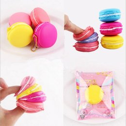 Wholesale Dessert Toys - Macaron Dessert Cake Cute Slow Rising Kawaii Soft Squishy Cell phone Straps Keychains Kids Toys Gift YYA414