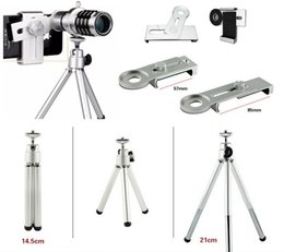 Wholesale Camping Tripod - 12 times cellphone Telescope with tripod rotate and stretch Monoculars high quality Night Vision Monocular mental Telescopio Free Shipping