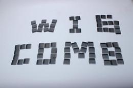 accessori all'ingrosso pettine dei capelli di plastica Sconti Wholesale 10 pezzi / lotto Accessori parrucca Sette pettine di plastica 3.2 cm * 3.4 cm Parrucca Pettini e Clip per parrucca Cap