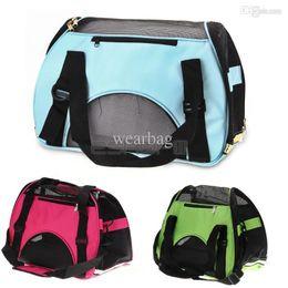 Wholesale Pet Carrier Small - Hot Sale-Portable Waterproof Canvas Dog Cat Pet Carrier Travel Carry Bag 43x20x29cm