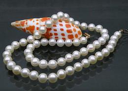 Nouveau collier avec perles fines Akoya blanches 9-10mm parfaites 20
