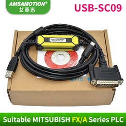 Wholesale Fa Shipping - Amsamotion USB-SC09 Communication Cable Suitable Mitsubishi FX FA Series PLC Programming Cable NEW DESIGN With Free Shipping