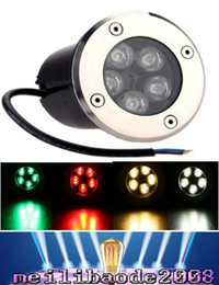 Wholesale Led Ground Rgb - 5W Led Underground Light Lamp AC 85-265V Led in Ground Lights Outdoor Garden Lamp RGB Warm White Red Blue Green Landscape MYY