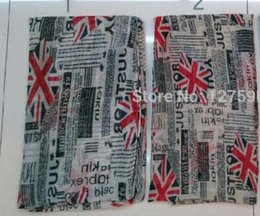 Wholesale Scarves London - Newspaper Union Jack UK London Vintage Style Women's Scarf Shawl Wrap Hijab Soft Lightweight for All Seasons 2017 New design