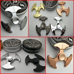 Wholesale toy axe wholesale - 2017 New Style Three Leaf Axe Stress Reliever Zinc Alloy Spinner Metal Spinners Toy Fidget Hand Finger Spinner Stress Toy