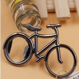 Wholesale Cute Bicycles - Cute Fashionable Bike Bicycle Metal Beer Bottle Opener keychain key rings for bike lover biker Creative Gift for cycling