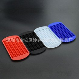 Wholesale Silicone Grid - 4 8fr Fashion Silicone Ice Maker Mold Mini Square Shape 1cm Silica Gel 160 Grid Cube Tray Molds Ice Chocolate Baking