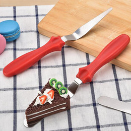 Wholesale Valentine Ceramics - Wholesale- DIY Cake Cream Spread Decorating Scraper Pastry Angled Blade Spatula Wedding Valentine Baking Cooking Kitchen Tools 3Pcs Set