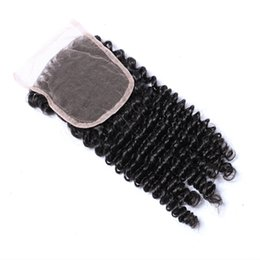 Wholesale Brazilian Curly Virgin Bulk Hair - 4Pcs Lot Brazilian Curly Virgin Hair With Closure Grade 8A Unprocessed Brazilian Kinky Curly Virgin Hair Weave Bundles And Top Lace Closures