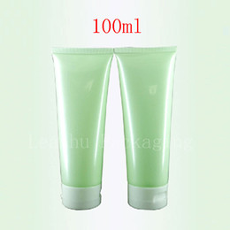 Wholesale Glass Skin Care Container - 100ml X 50 Empty Light Green Soft Lotion Tube Cosmetics Packaging,100g shampoo Plastic Bottles , Skin Care Cream Containers Tube