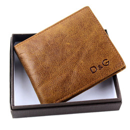 Wholesale Wholesale Interior Designs - Vebin Simple Fashion Mens Short Cowhide Genuine Leather Wallet Boys Purse Leather Coin Bag 2 Folds New Design Free Shipping