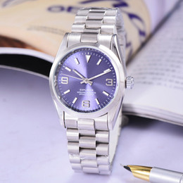 Wholesale Hand Digital - 369 digital purple Mechanical watches Alloy steel strap bracelet Automatic wrist watch man clock