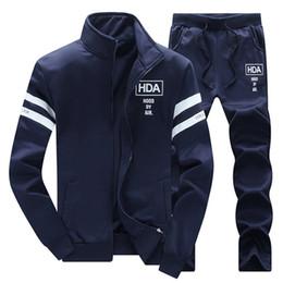 Wholesale Men S Neck Piece - Wholesale-HDA Sweatshirt+joggers pants 2016 New Autumn Hot Sale Suit Men Hoodies Sweatshirt Men Fashion brand Tracksuit Men Set 2 pieces
