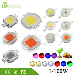 Wholesale Grow Lights 3w 5w - High Power LED Chip 1W 3W 5W 10W 20W 30W 50W 100W SMD COB Light Bead Warm Cold White Red Green Blue RGB Full Spectrum Grow Light