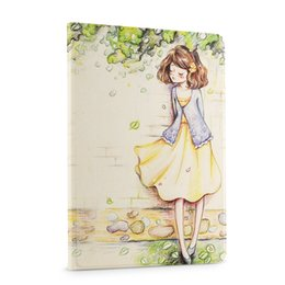 Wholesale 3d Case For Ipad - Wholesale- For ipad 5 Smart Magnet Leather case Luxury 3D Stereo Relief Painting Flower Stand for ipad air 1 iPad 5 Tablet cases Wake Sleep