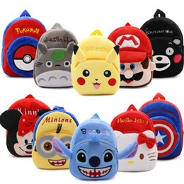 Wholesale Backpack Cartoon Kids - DHL Anime Poke Pikachu Mon Pokeball  Hello Kitty Minnie Superman Plush Backpack Cartoon Kids Toys Birthday Gifts Bag For 1-3 Years kids