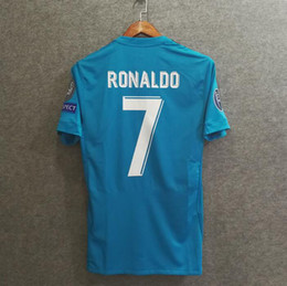 Wholesale Authentic Soccer - Perfect 17 18 3rd player version madrid authentic as worn by pros soccer jerseys AAA football shirts slim fit ultra light custmize ronaldo