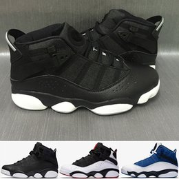Wholesale Mesh Rings - 2017 Air retro six 6 rings men basketball shoes French Blue Bulls Cool Grey Black Silver Grey Alternate Oreo Chameleon retro 6s Sneakers