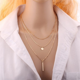 Wholesale Direction Necklace - Wholesale-Gold plated necklace women accessories gold chain neckless gift sale one direction necklace 2016 new fashion nacklace jewerly