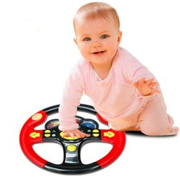 Wholesale Driving Steering - Wholesale-Children's Steering Wheel Toy Baby Childhood Educational Driving Simulation New Hot!