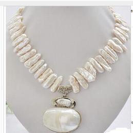2019 mabe perlen edle Frauen Geschenk Schmuck Silber Verschluss 25mm weiß biwa dens Süßwasser Perlenkette Mabe Anhänger günstig mabe perlen