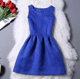 Wholesale Cheap Christmas Tutus - 2017 Summer Style Dresses For Girl A-line Sleeveless Formal Girl Dresses Teenagers Party Dress Cheap Free Shipping