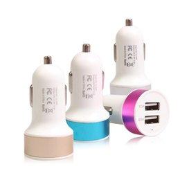 Canada Dual USB Port Voiture Chargeur Auto détecteur Universel Pour Samsung Huawei Port Adaptateur Voiture-style 5 V 3.1A Offre