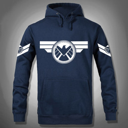 Wholesale Usa Costumes - Wholesale- Marvel Agents Of S.H.I.E.L.D. Hoodie Costume Hero Hoody Hoodies Men USA Cosplay Clothing Sweatshirt 3XL