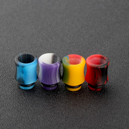 Wholesale Acrylic Cigarette - 2017 Newest 510 Acrylic Drip Tips Wide Bore Drip Tip Colorful Atomizer Mouthpieces Fit 510 Atomizers E Cigarette Free Ship