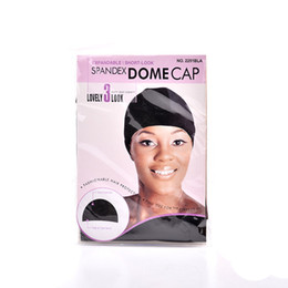 Wholesale Dome Wig Caps - 5pcs lot Wig Cap Spandex Net Dome Cap for Cover Wig, Comfortable Soft Stretch Black Wig Cap for Protecting Hair