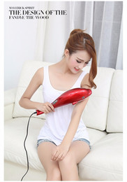 Wholesale Electric Roller Massage - Electric Dolphin Massager Back Massage Hammer Vibration Infrared Body Massage Stick Roller Cervical Vertebra Massager Device (Size: 220V, Co