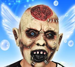 Wholesale Decorating Masks - Wholesale Masquerade Masks Darth Vader Helmet Halloween Mask Scary Head Decorated Props Super Terrorist Devil Explodes The Brain On Sale