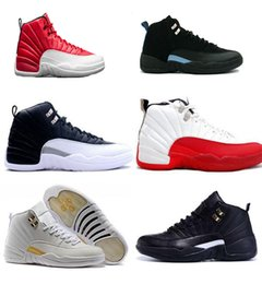 Wholesale Hottest Game Online - 2017 hot 12 mens basketball shoes wool mens sneaker Black Nylon Blue Suede discount shoes flu game french blue sports shoes online