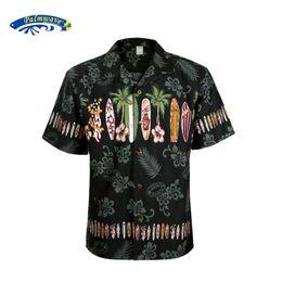 Wholesale Hawaiian Yellow - Wholesale- 2016 New Summer Hawaiian Shirt Men US Size Plus Size Mens Short Sleeve Casual 100% Cotton Printing Hawaii Shirts A1396