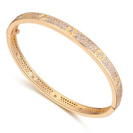 Wholesale Micro Invisible - New Famous Brands Jewelry Micro Pave With AAA Cz Stones Love Bangle Bracelet For Women Wedding Party Jewelry Gift
