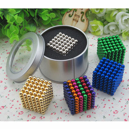 Wholesale Puzzle Pc Game - 16 Colors Option 5mm 216 pcs Neo Cube Magic Puzzle Board Game With Metal Box, Magnet Colorfull Magic Gift With Free Shipping